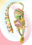 вектор pussycat кота искусства Стоковые Фотографии RF