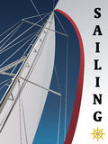 вектор sailing иллюстрация вектора