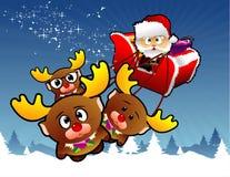 вектор santa рождества Стоковая Фотография RF