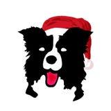 вектор santa собаки рождества Стоковая Фотография RF