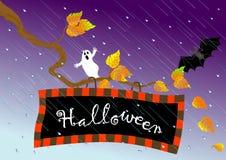 вектор signboard halloween Стоковые Фото