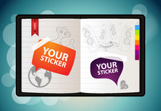 вектор sketchbook Стоковая Фотография