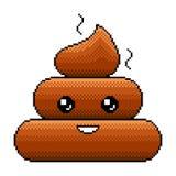 Вектор smilie emoji кормы пиксела детальный Бесплатная Иллюстрация
