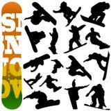 вектор snowboard Стоковые Фото
