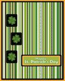 вектор st patrick s приветствию дня карточки Стоковое Изображение