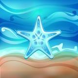вектор starfish пляжа Стоковая Фотография