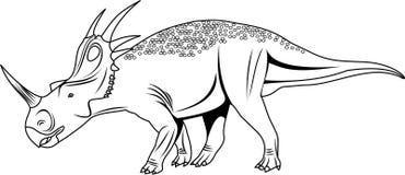Вектор Styracosaurus Иллюстрация штока