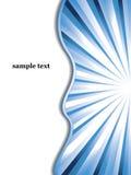 вектор sunburst дела предпосылки голубой Стоковые Изображения