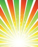 вектор sunburst предпосылки Стоковые Изображения RF