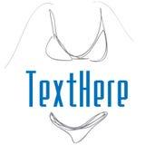 вектор swimsuit логоса Стоковые Изображения