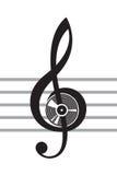 вектор treble иллюстрации clef Стоковое Изображение RF