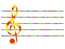 вектор treble иллюстрации clef Стоковые Изображения