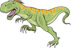 вектор tyrannosaurus динозавра искусства Стоковое Изображение
