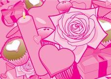 вектор valentines дня предпосылки Стоковое Фото