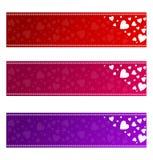 вектор valentines знамен Стоковое Изображение RF