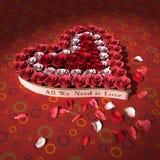 вектор valentines роз сердца конструкции дня бесплатная иллюстрация