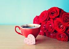 вектор valentines роз сердца конструкции дня Стоковая Фотография