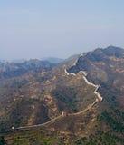 Великая Китайская Стена вечера фарфора Стоковые Изображения