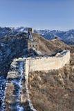 Великая Китайская Стена в зиме Стоковые Фото