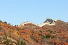 Великая Китайская Стена в autum Стоковые Фото