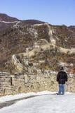Великая Китайская Стена Китая в зиме Стоковое фото RF