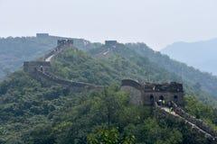 Великая Китайская Стена Китая на Mutianyu, Пекин, Китае стоковая фотография