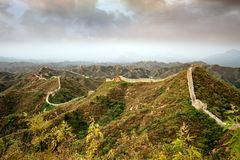 Великая Китайская Стена Китая стоковая фотография rf