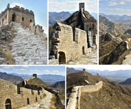 Великая Китайская Стена коллажа фарфора Стоковое Изображение