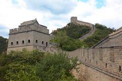 Великая Китайская Стена, Пекин Стоковое Изображение RF