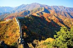 Великая Китайская Стена фарфора Пекин Стоковое Фото
