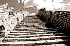 Великая Китайская Стена фарфора предпосылки Стоковое Изображение
