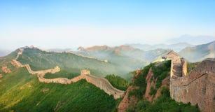 Великая Китайская Стена фарфора Стоковое Фото