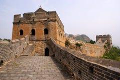 Великая Китайская Стена фарфора Стоковая Фотография