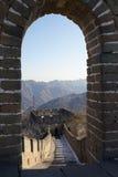 Великая Китайская Стена Mutianyu Стоковое Изображение