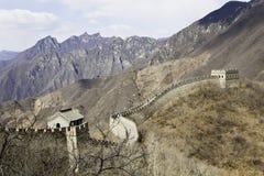 Великая Китайская Стена Mutianyu Стоковое Фото