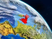 Великобритания от космоса иллюстрация штока