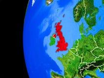 Великобритания от космоса иллюстрация вектора