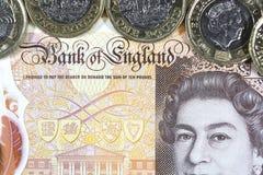 Великобританская валюта - новый полимер примечание 10 фунтов Стоковое Фото