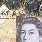 Великобританская валюта - новый полимер примечание 10 фунтов Стоковые Изображения RF