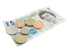 великобританская валюта Стоковое Изображение