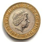 великобританская монетка Стоковое Изображение