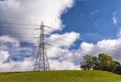 Великобританская национальная опора электричества решетки Стоковые Изображения RF