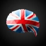 Великобританская предпосылка пузыря речи флага Стоковое Изображение