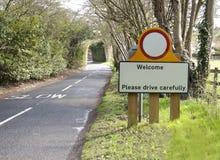 великобританская скорость дорожного знака Стоковая Фотография RF