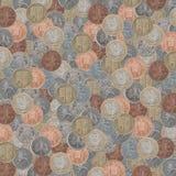Великобританская текстура монеток Стоковая Фотография RF