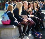 Великобританские девушки школы Стоковое Изображение RF