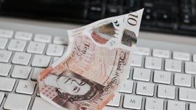 Великобританские деньги 10 фунтов Стоковое Фото