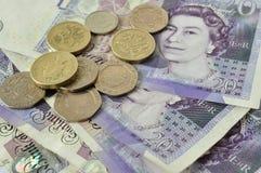 великобританские деньги Стоковые Фотографии RF