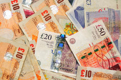Великобританские деньги Стоковые Изображения