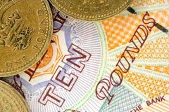 великобританские деньги Стоковая Фотография RF